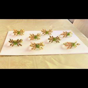 Deborah Rhodes Handmade Crystal Napkin Rings -S/8